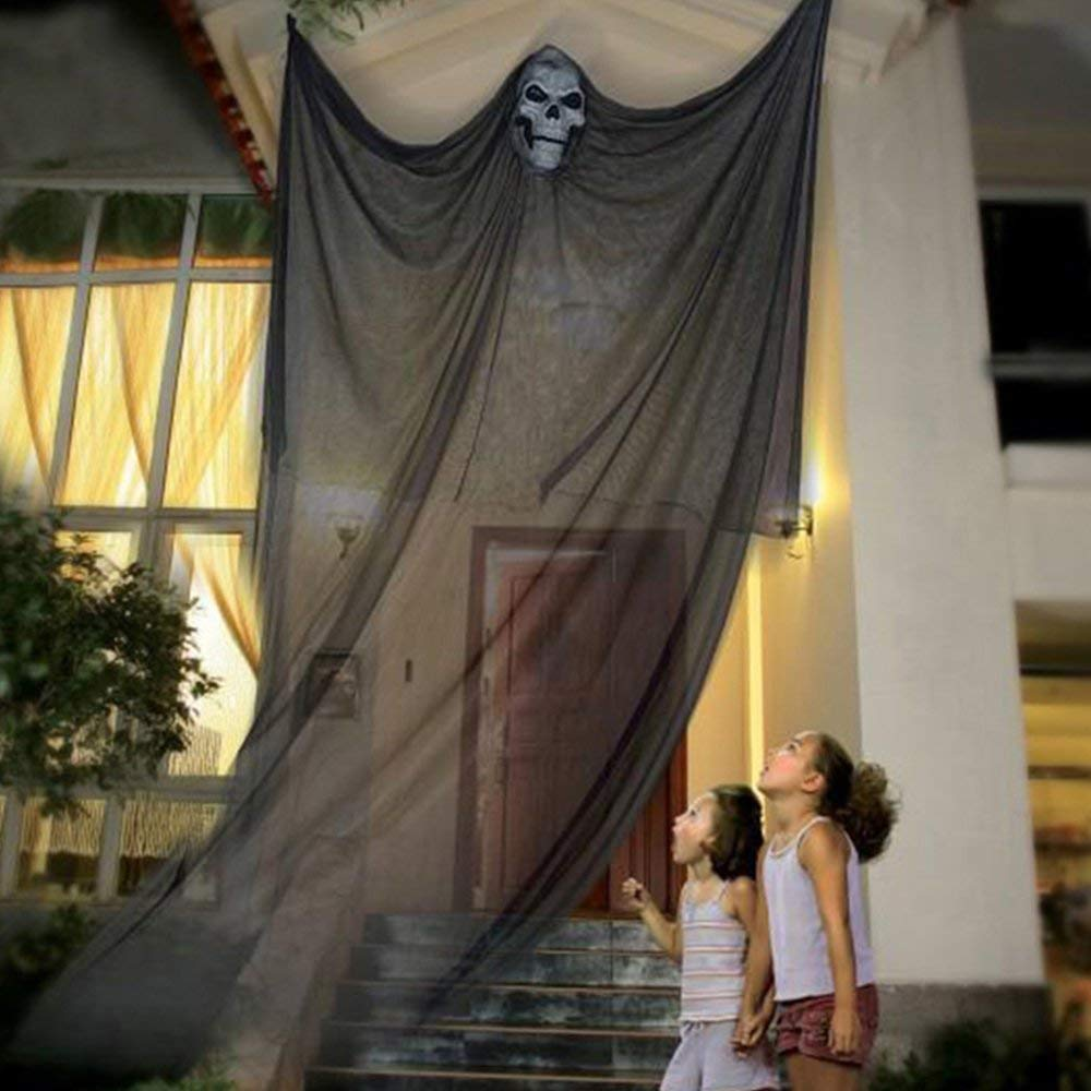 black giant ghost curtain