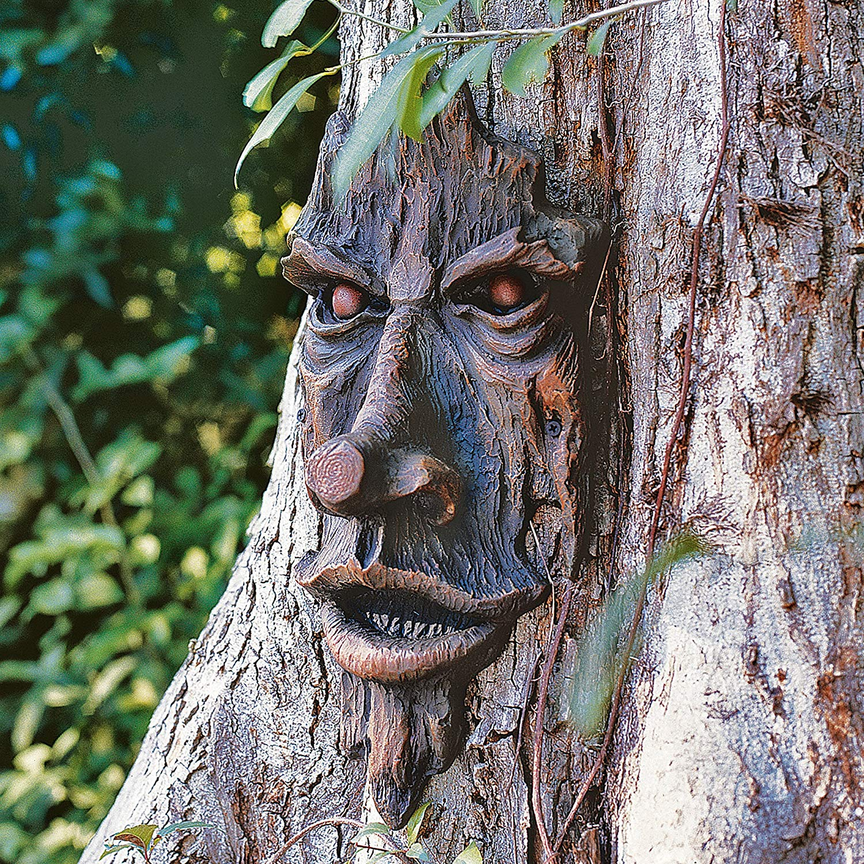 wood spirit tree spooky statue